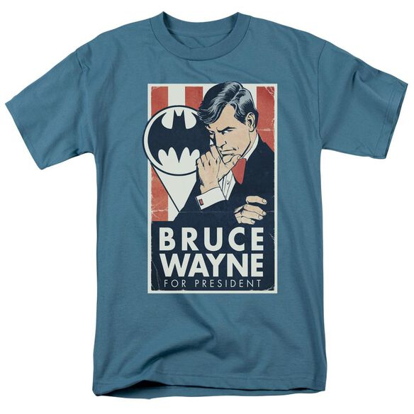 Batman Wayne For President Short Sleeve Adult Slate T-Shirt