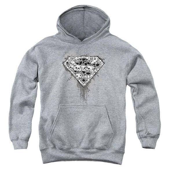 Superman Many Super Skulls Youth Pull Over Hoodie
