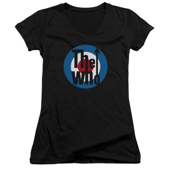 The Who Logo Junior V Neck T-Shirt