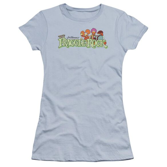 Fraggle Rock Leaf Logo Premium Bella Junior Sheer Jersey Light