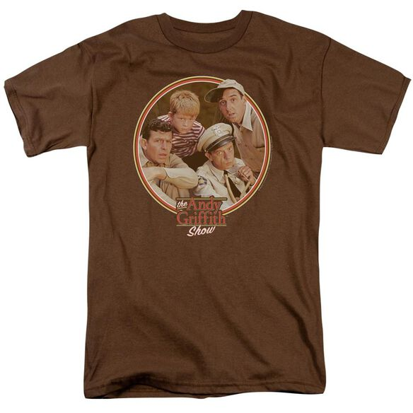 Andy Griffith Boys Club Short Sleeve Adult Coffee T-Shirt