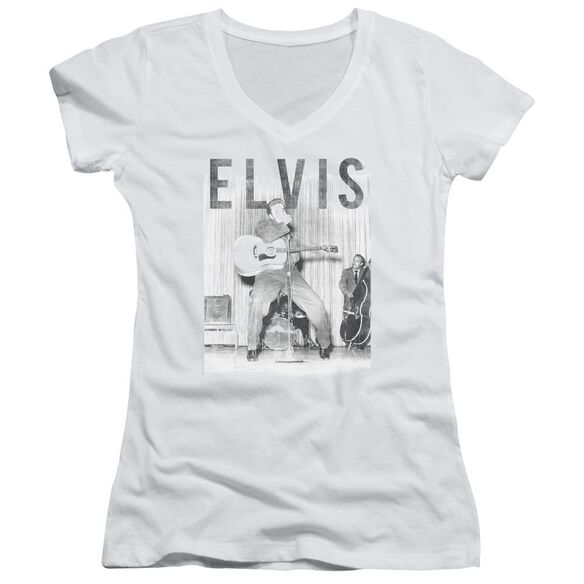 Elvis With The Band Junior V Neck T-Shirt