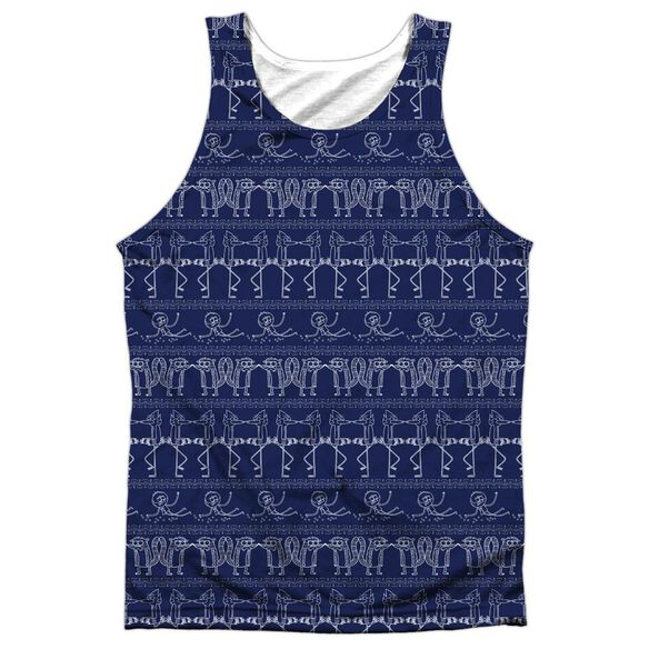 b94cfdc93007f Regular Show Rs Pattern Adult Poly Tank Top - White (SM)