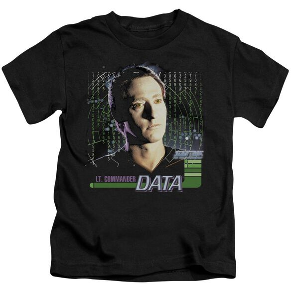 Star Trek Data Short Sleeve Juvenile Black T-Shirt