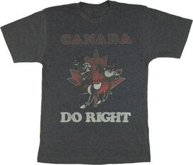Rocky and Bullwinkle Canada T-Shirt Sheer