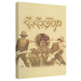 Zz Top First Album Canvas Wall Art With Back Board