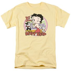 Betty Boop Kiss Short Sleeve Adult Banana T-Shirt