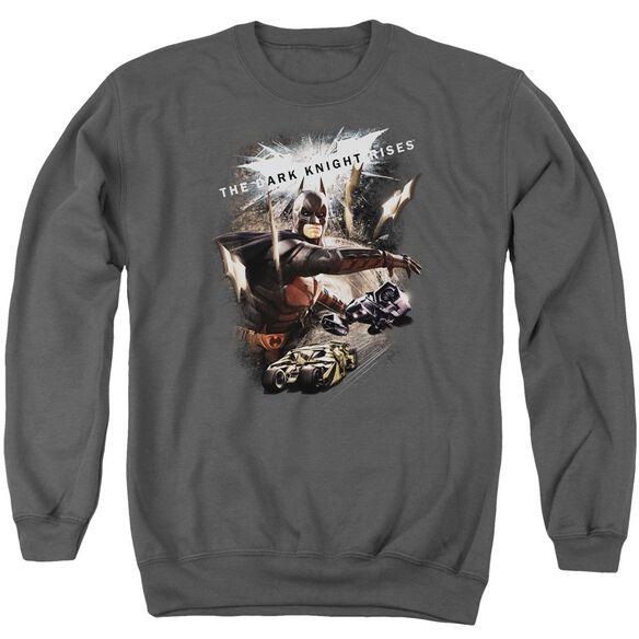 Dark Knight Rises Imagine The Fire Adult Crewneck Sweatshirt