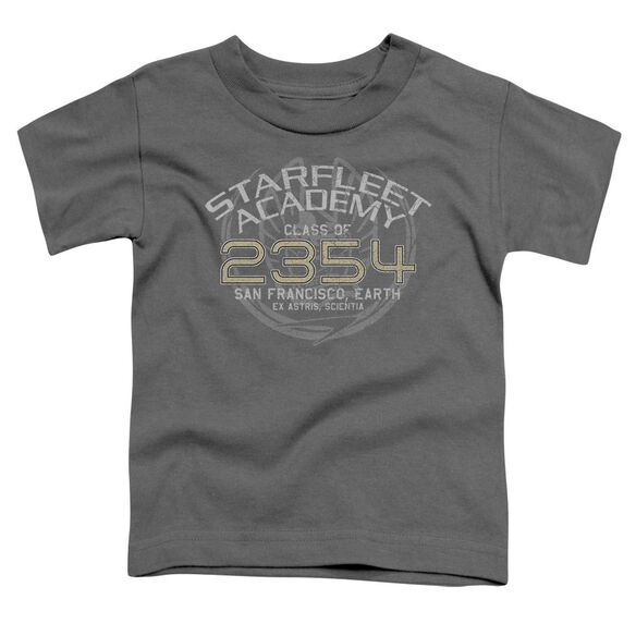 Star Trek Sisko Graduation Short Sleeve Toddler Tee Charcoal T-Shirt