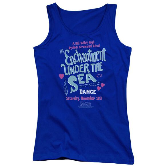 Back To The Future Under The Sea Juniors Tank Top Royal