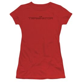 Terminator Logo Outline Short Sleeve Junior Sheer T-Shirt