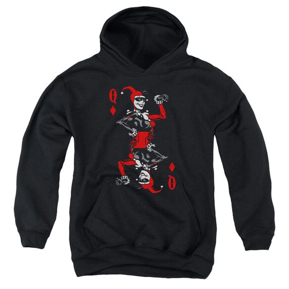 Batman Quinn Of Diamonds Youth Pull Over Hoodie