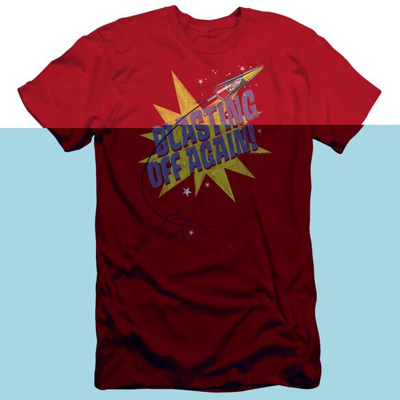 Astro Pop Blast Off Short Sleeve Adult T-Shirt