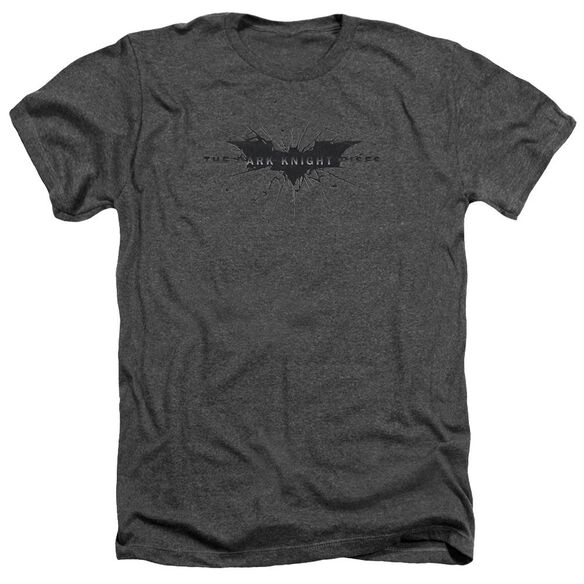 Dark Knight Rises Scratched Logo Adult Heather