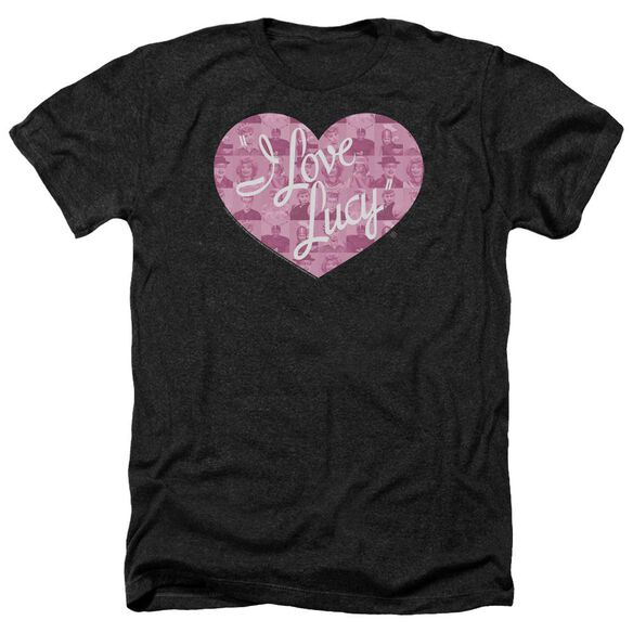 I Love Lucy Many Moods Logo Adult Heather