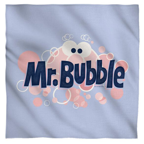 Mr Bubble Eye Logo Bandana White