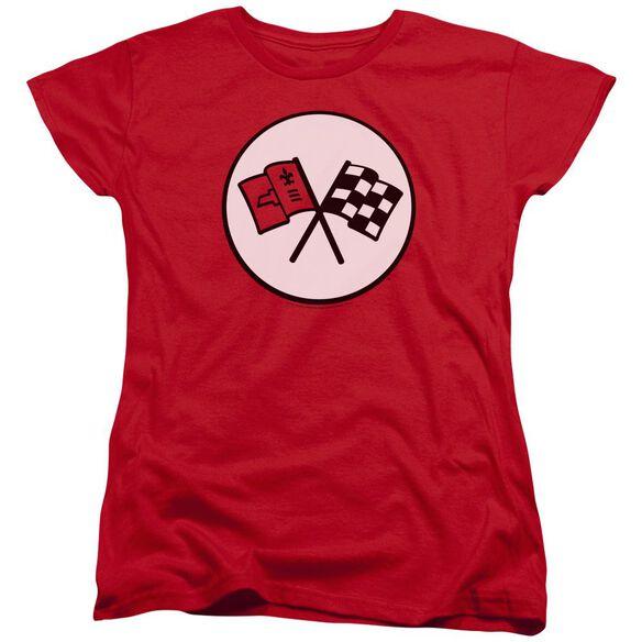 Chevrolet Nd Gen Vette Logo Short Sleeve Womens Tee T-Shirt