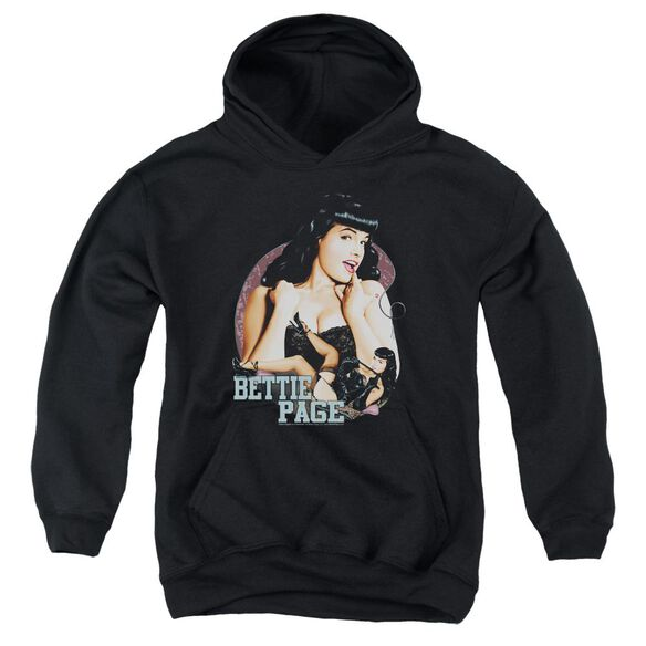 Bettie Page Good Vs Bad Youth Pull Over Hoodie