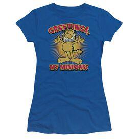 Garfield Minions Short Sleeve Junior Sheer Royal T-Shirt