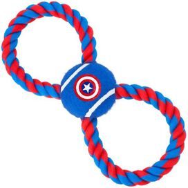 Captain America Rope Ball Pet Toy