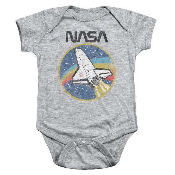 Nasa Shuttle Infant Snapsuit Athletic Heather