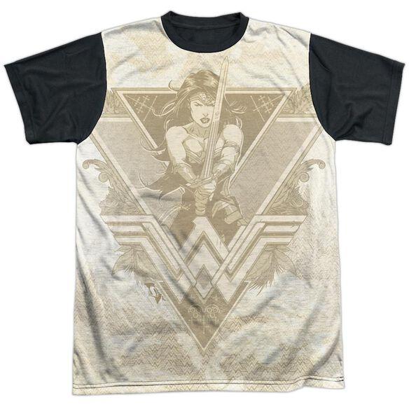 Batman V Superman Greek Goddess Short Sleeve Adult Front Black Back T-Shirt
