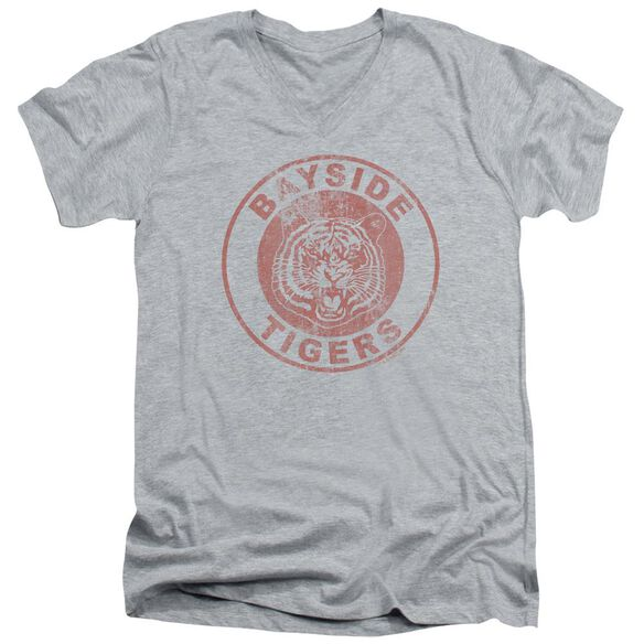 Saved By The Bell Tigers Short Sleeve Adult V Neck Athletic T-Shirt