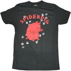 Simpsons Spiderpig Tracks T-Shirt Sheer