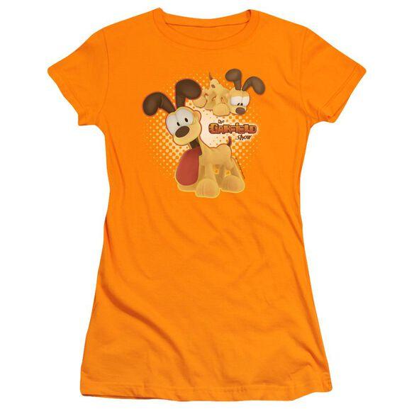 GARFIELD ODIE - S/S JUNIOR SHEER - ORANGE T-Shirt