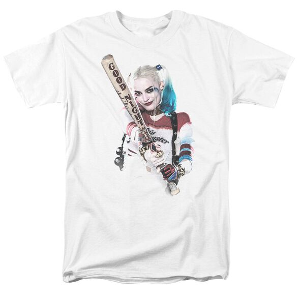 Suicide Squad Bat At You Short Sleeve Adult White T-Shirt