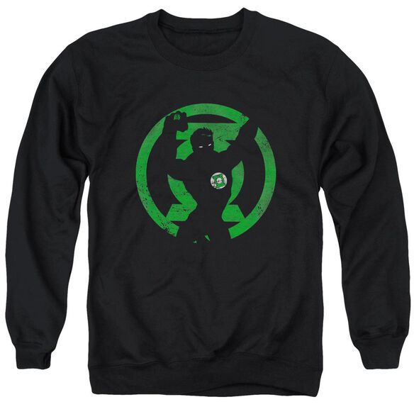 Dc Gl Symbol Knockout Adult Crewneck Sweatshirt