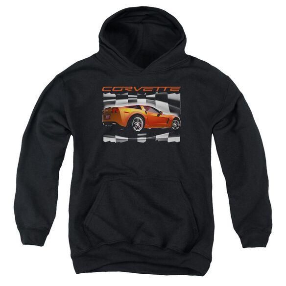 Chevrolet Orange Z06 Vette Youth Pull Over Hoodie