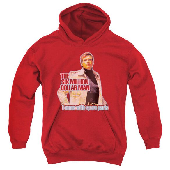 Six Million Dollar Man Spare Parts Youth Pull Over Hoodie