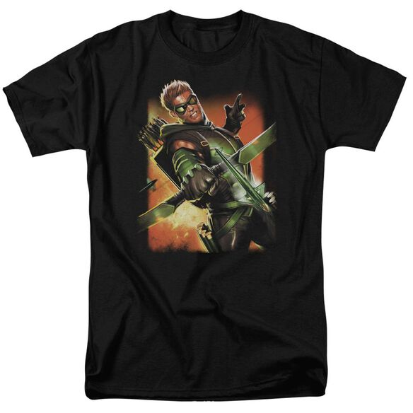 Jla Green Arrow #1 Short Sleeve Adult T-Shirt