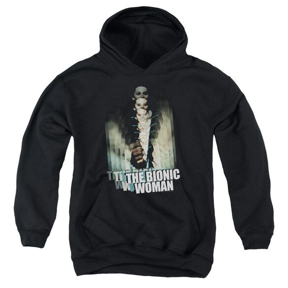 Bionic Woman Motion Blur Youth Pull Over Hoodie