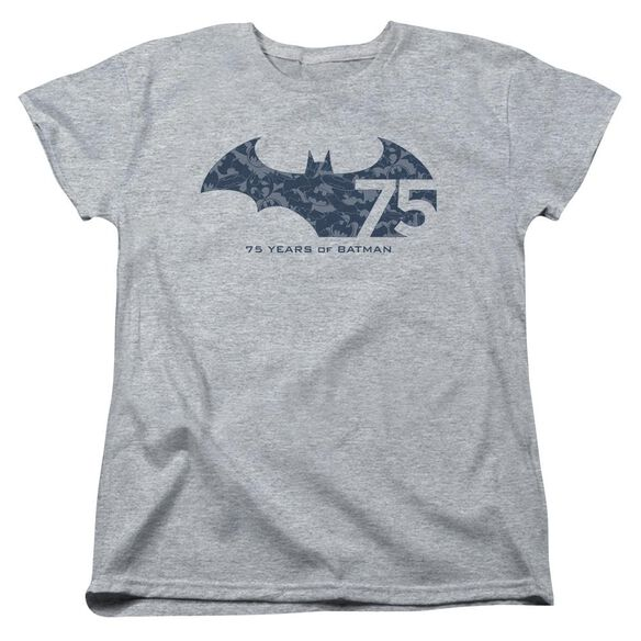 Batman 75 Year Collage Short Sleeve Womens Tee Athletic T-Shirt