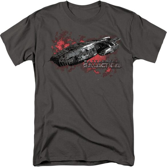 BSG GALACTICA - S/S ADULT 18/1 - CHARCOAL T-Shirt