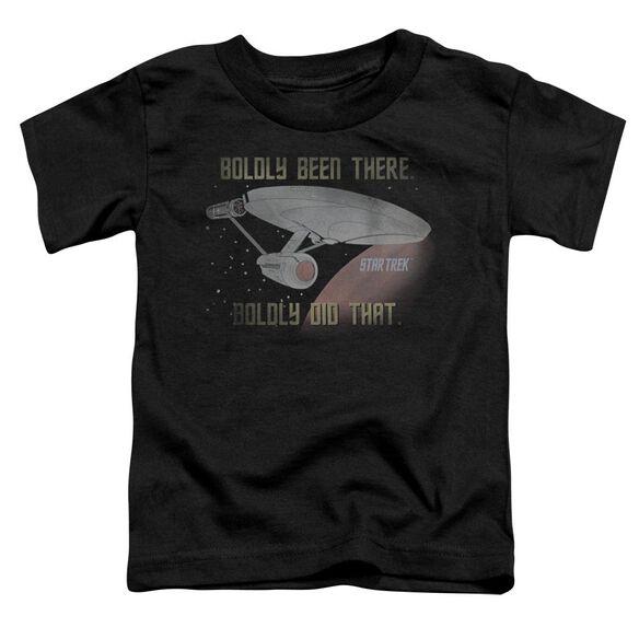 Star Trek Boldly Did That Short Sleeve Toddler Tee Black Md T-Shirt
