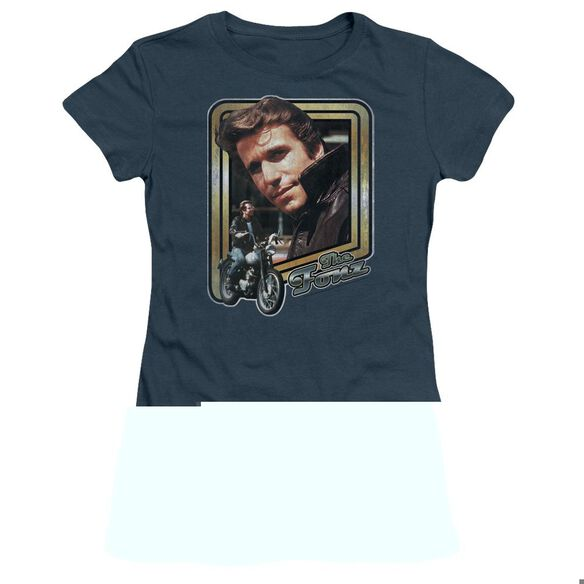 HAPPY DAYS THE FONZ - S/S JUNIOR SHEER - INDIGO T-Shirt
