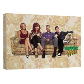 Married With Children Couch Trip Canvas Wall Art With Back Board