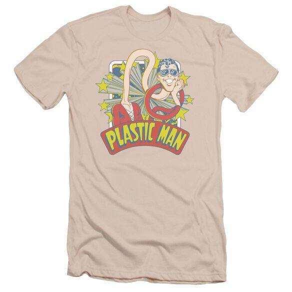 Dc Plastic Man Stars Short Sleeve Adult T-Shirt
