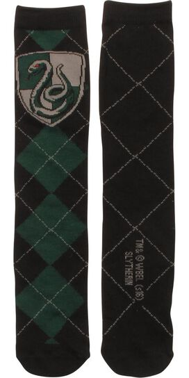 Harry Potter Slytherin Argyle Crew Socks
