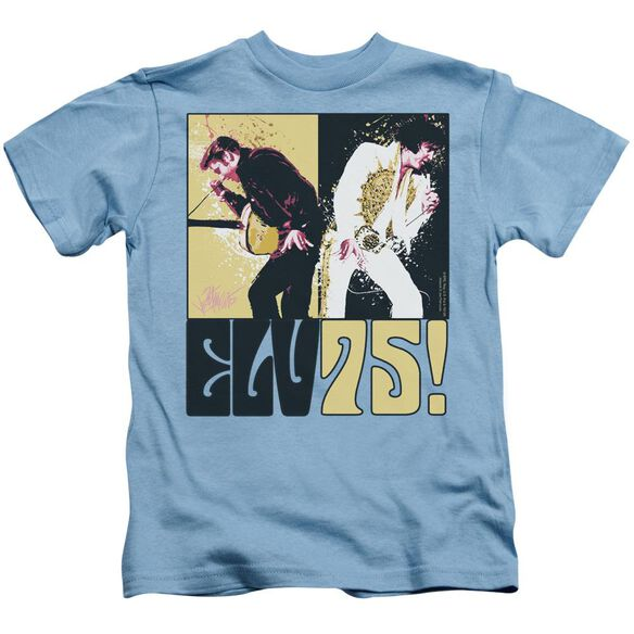 Elvis Still The King Short Sleeve Juvenile Carolina Blue T-Shirt