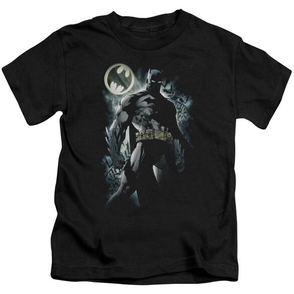 Batman The Knight Short Sleeve Juvenile Black T-Shirt