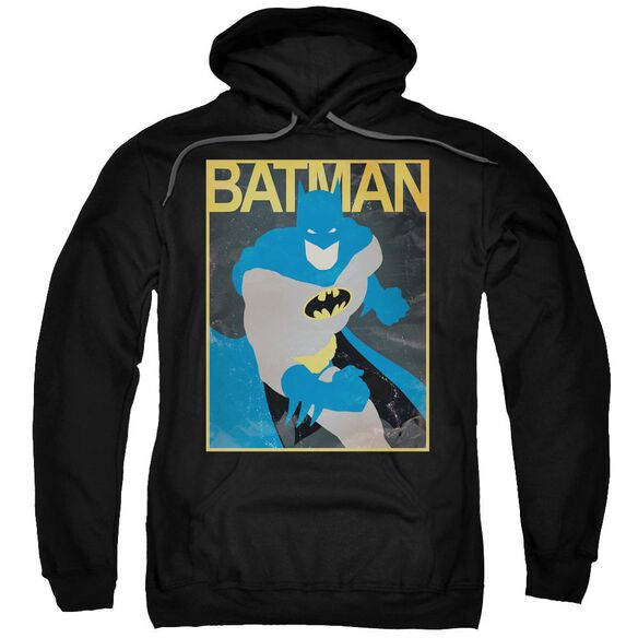 Batman Simple Bm Poster Adult Pull Over Hoodie