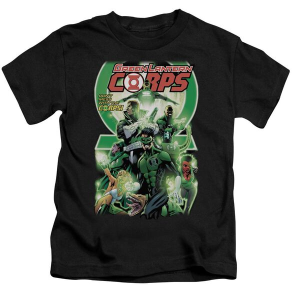 Green Lantern Gl Corps #25 Cover Short Sleeve Juvenile Black Md T-Shirt