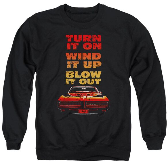 Pontiac Blow It Out Gto Adult Crewneck Sweatshirt