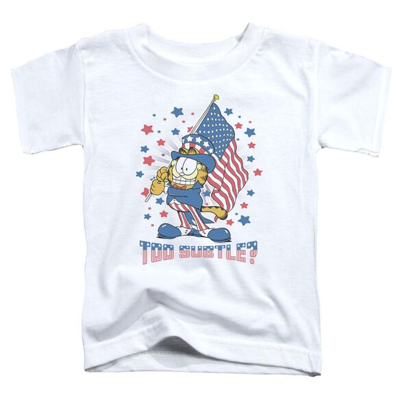 Garfield Subtle Short Sleeve Toddler Tee White Sm T-Shirt