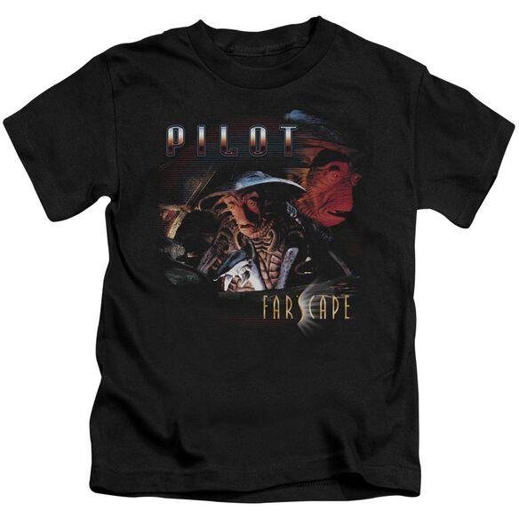 Farscape Pilot Short Sleeve Juvenile Black T-Shirt