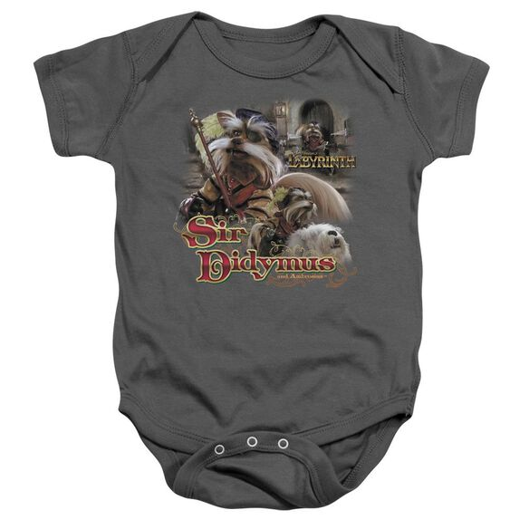 Labyrinth Sir Didymus Infant Snapsuit Charcoal